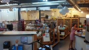 Inside the Art Supply Depo.