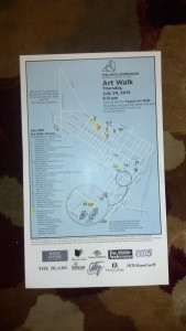 The front of the map. These were available at The Art Supply Depo and other sponsoring shop fronts.