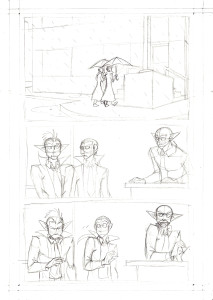 pencilled page of Johnson & Sir