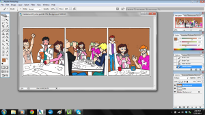 validation webcomic comic strip art work in photoshop coloring the background