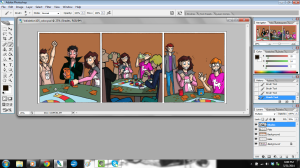 validation webcomic comic strip art being colored in photoshop