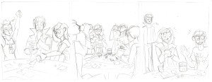 validation webcomic strip pencilled art