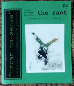 urban nu-sense the rant zine