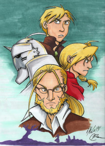 fullmetal alchemist brotherhood macpilt art piece