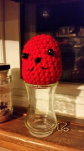crocheted head with cute face