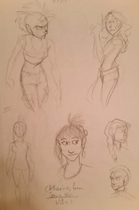 Gestures and character concepts for new projects.