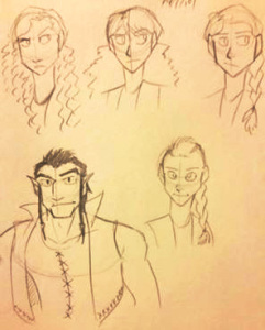 Character designs I drew for a developing story.