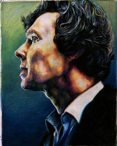 kelsey wailes sherlock print in colored pencil