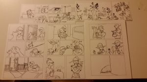 The comics are inked. Now for the color!