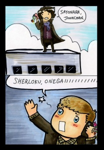 sherlock fan comic from doctor kawaii by kelsey wailes