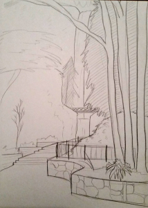landscape practice sketch from reference
