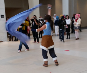 youmacon 2014 korra cosplayer ribbon dance