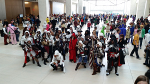 gaggle of assassins from assassins creed 2014 youmacon