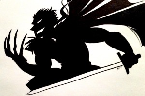 the legend of jamie roberts ranki silhouette sketch