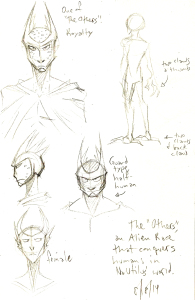 alien character design sketches concepts