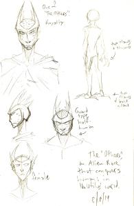 alien character design sketches concepts