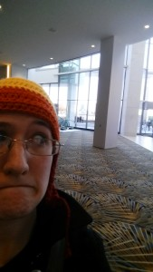 selfie at youmacon with jayne hat