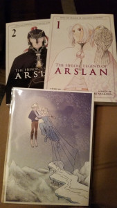 the heroic legend of arslan manga volumes 1 and 2 and jak and elsa fanart