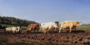 plowing in the nivernais painting by rosa bonheur