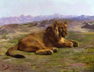 rosa bonheur lion painting