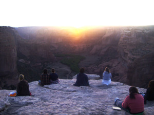 canyon du chelley spider rock sunset
