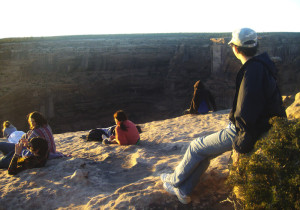 canyon du chelley sunset at spider rock