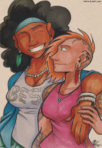two ladies illustration