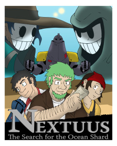 nextuus comic splash cover art