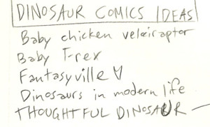 thoughtful dinosaur brainstorm sheet