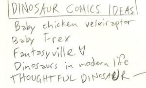thoughtful dinosaur brainstorm sheet