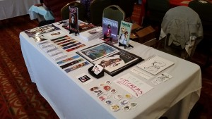 youngstown indie comics expo table artist alley