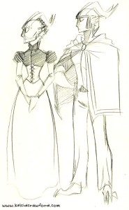 the uthers costume design