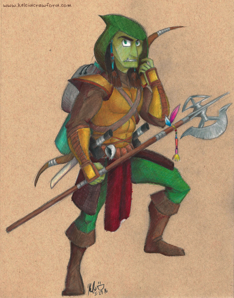 dungeons and dragons half orc ranger burnt
