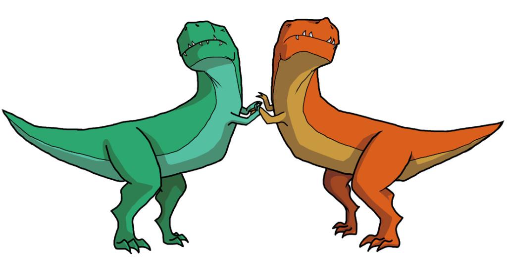 t rex sissy fight