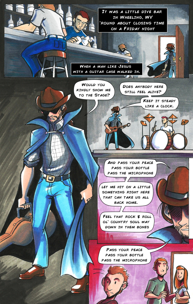 the stranger country song promotional comic page 1