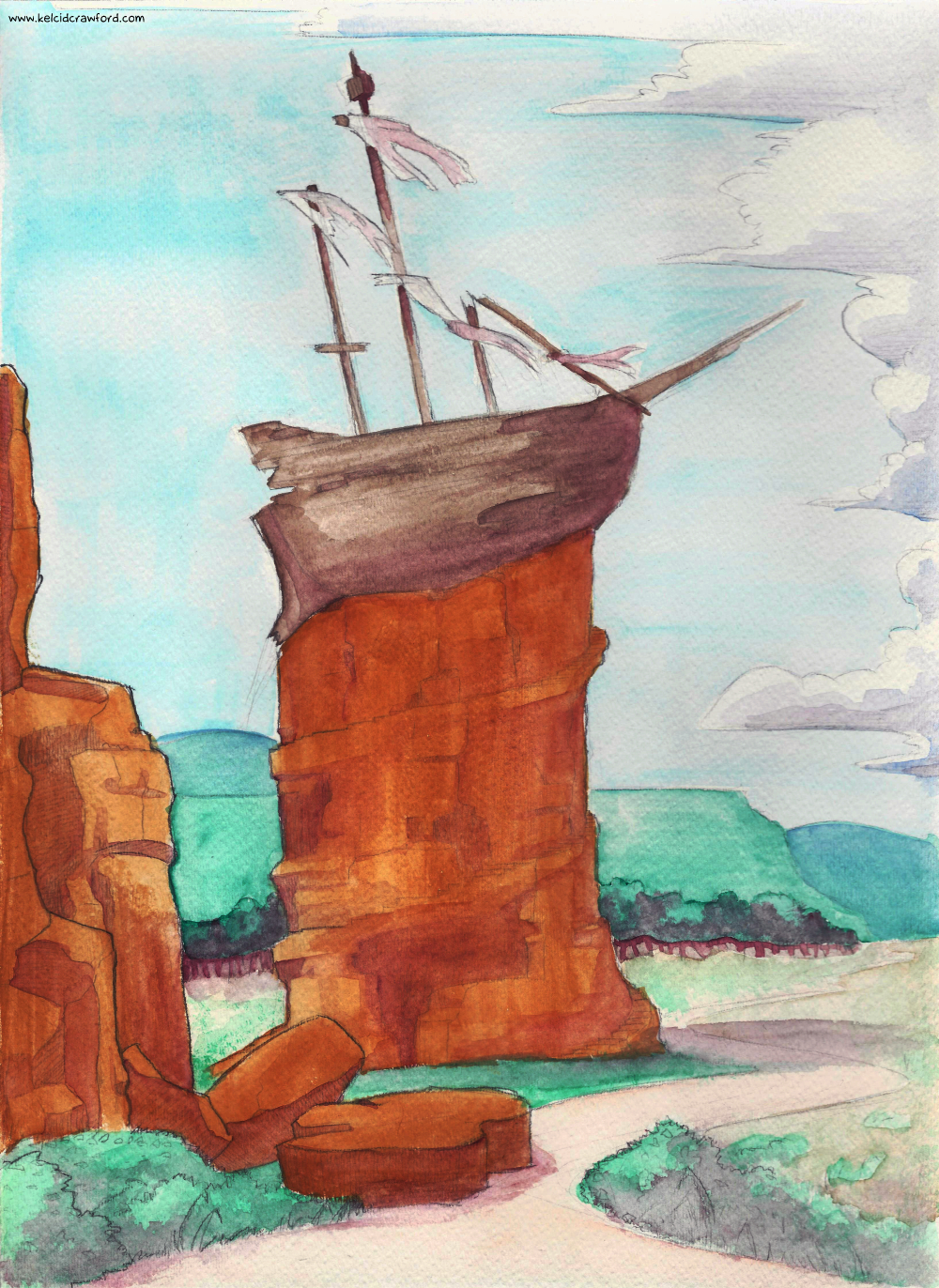 ship on the rock dungeons and dragons