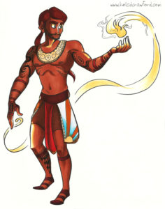 the fire mage illustration