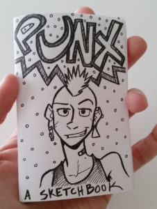 punx mini sketchbook