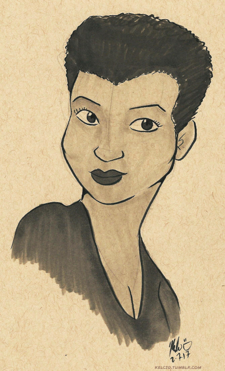 black history month jackie ormes cartoon sketch art