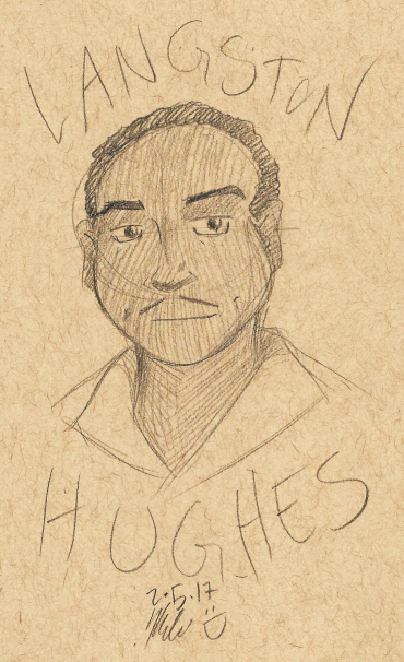 black history month langston hughes sketch art