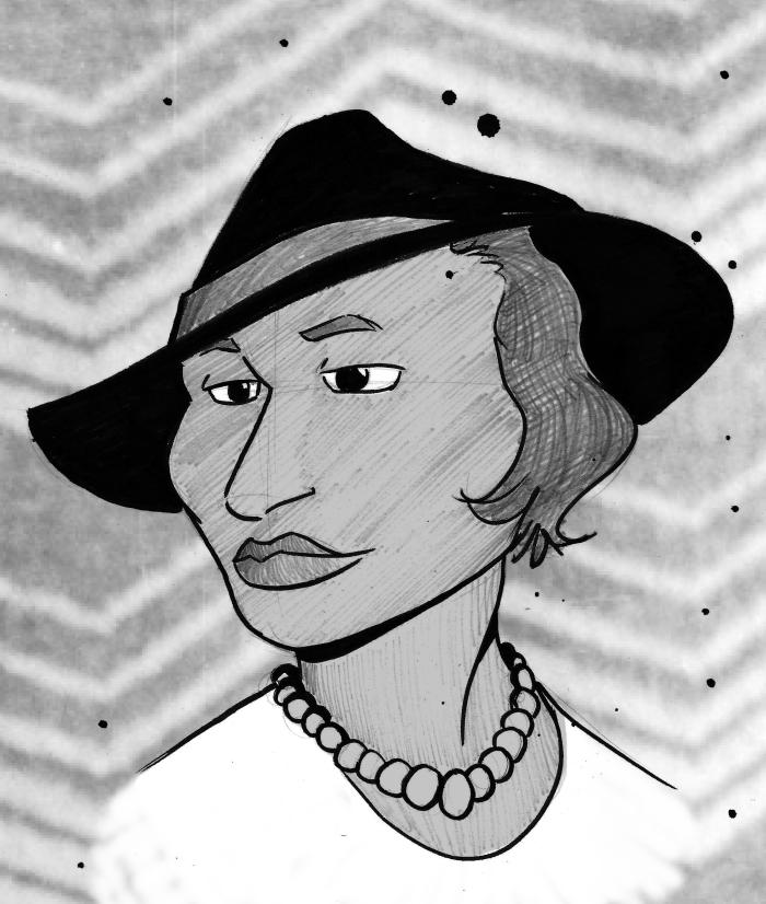 zora neale hurston black history month sketch art