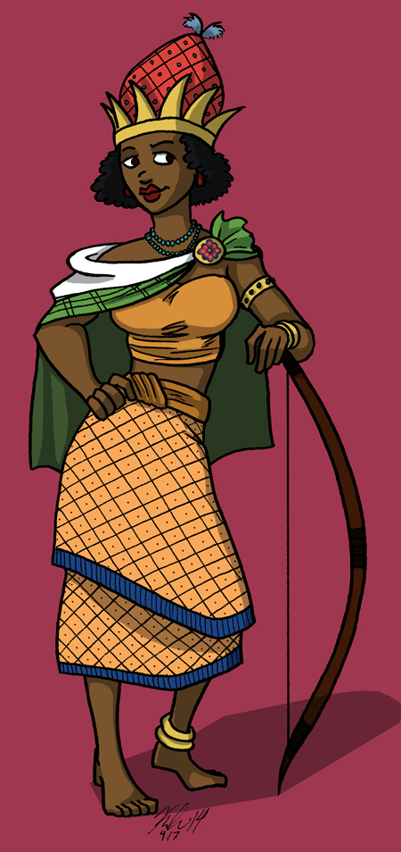 nzinga mbande woman warrior african queen black history month art