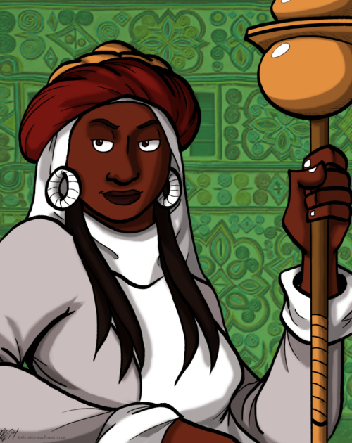queen amina or queen aminatu of zazzau hausa queen black history month illustration