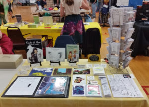 rathacon convention artist alley table 2017