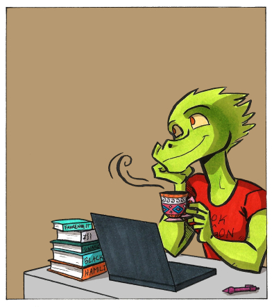 thoughtful dinosaur comic panel