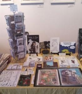 feminist zine fest pittsburgh table set up