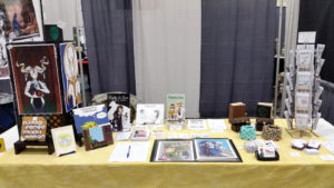 comicon erie 2017 artist alley table set up
