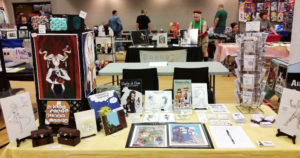 parkersburg pop con west virginia artist alley table 2017