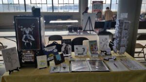 genghis con 2017 artist alley table