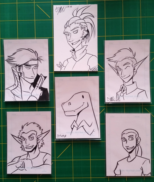 artist trading card sketch card spread
